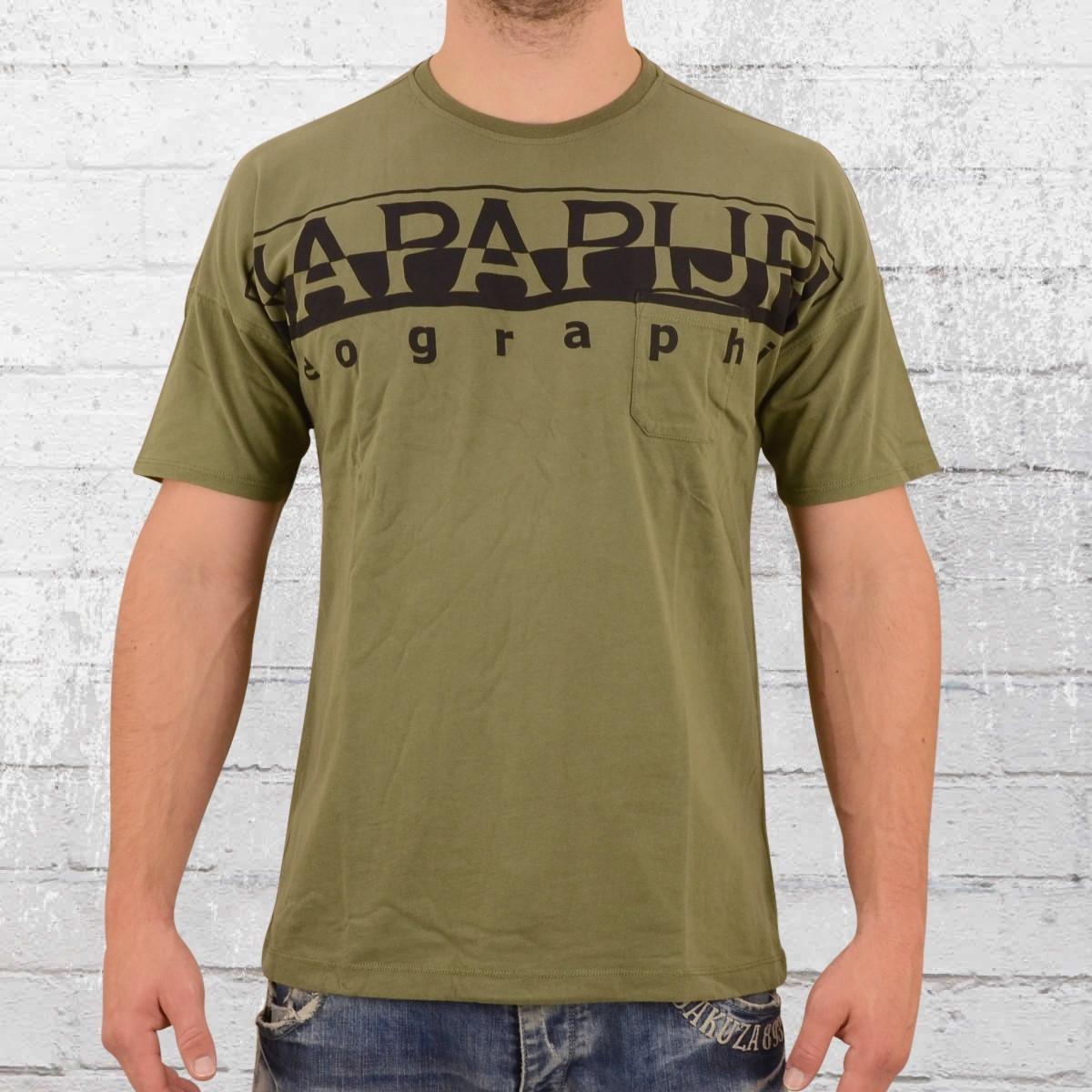 Napapijri Männer T-Shirt Saumur oliv grün