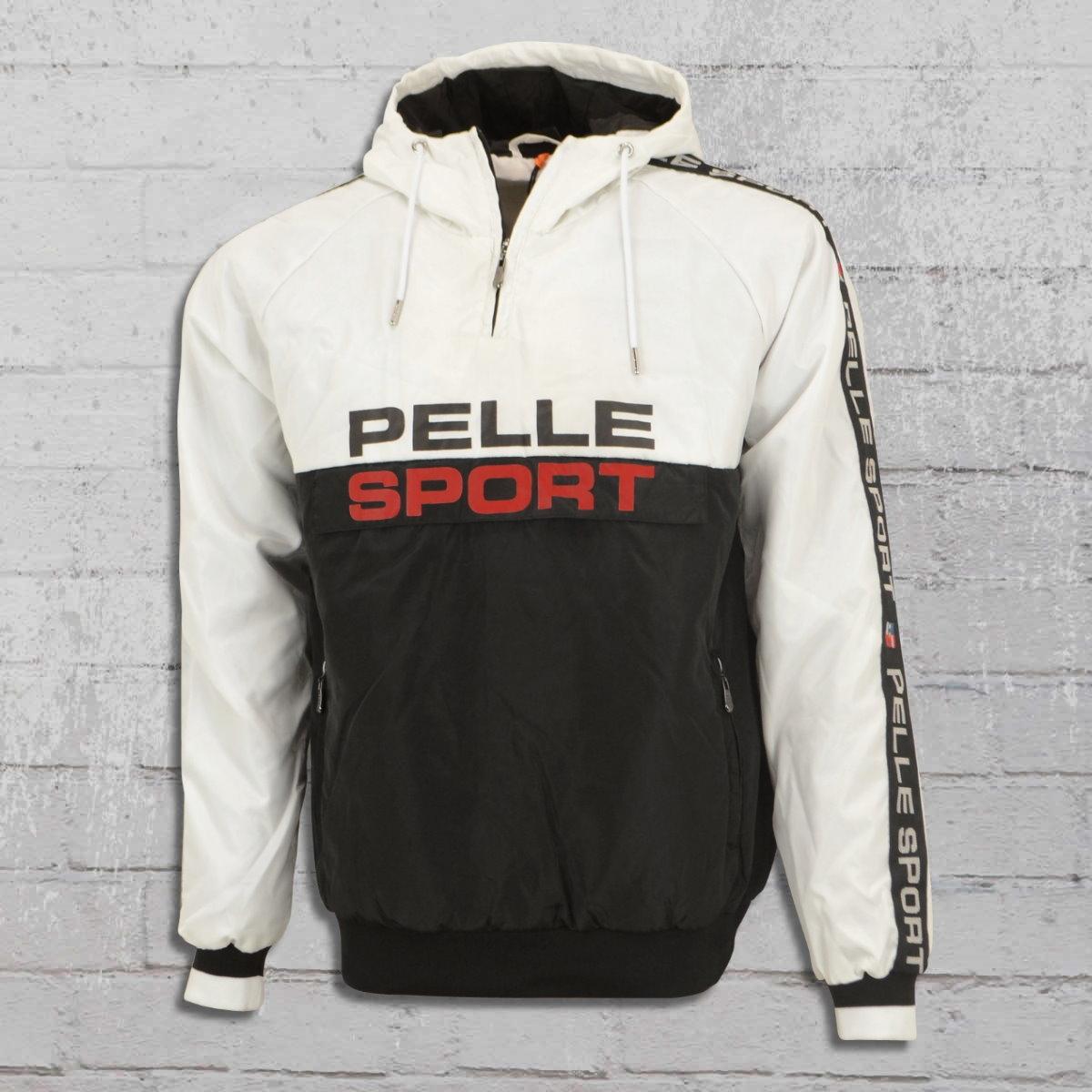 Pelle Pelle Vintage Sports Windbreaker Gefüttert weiss schwarz