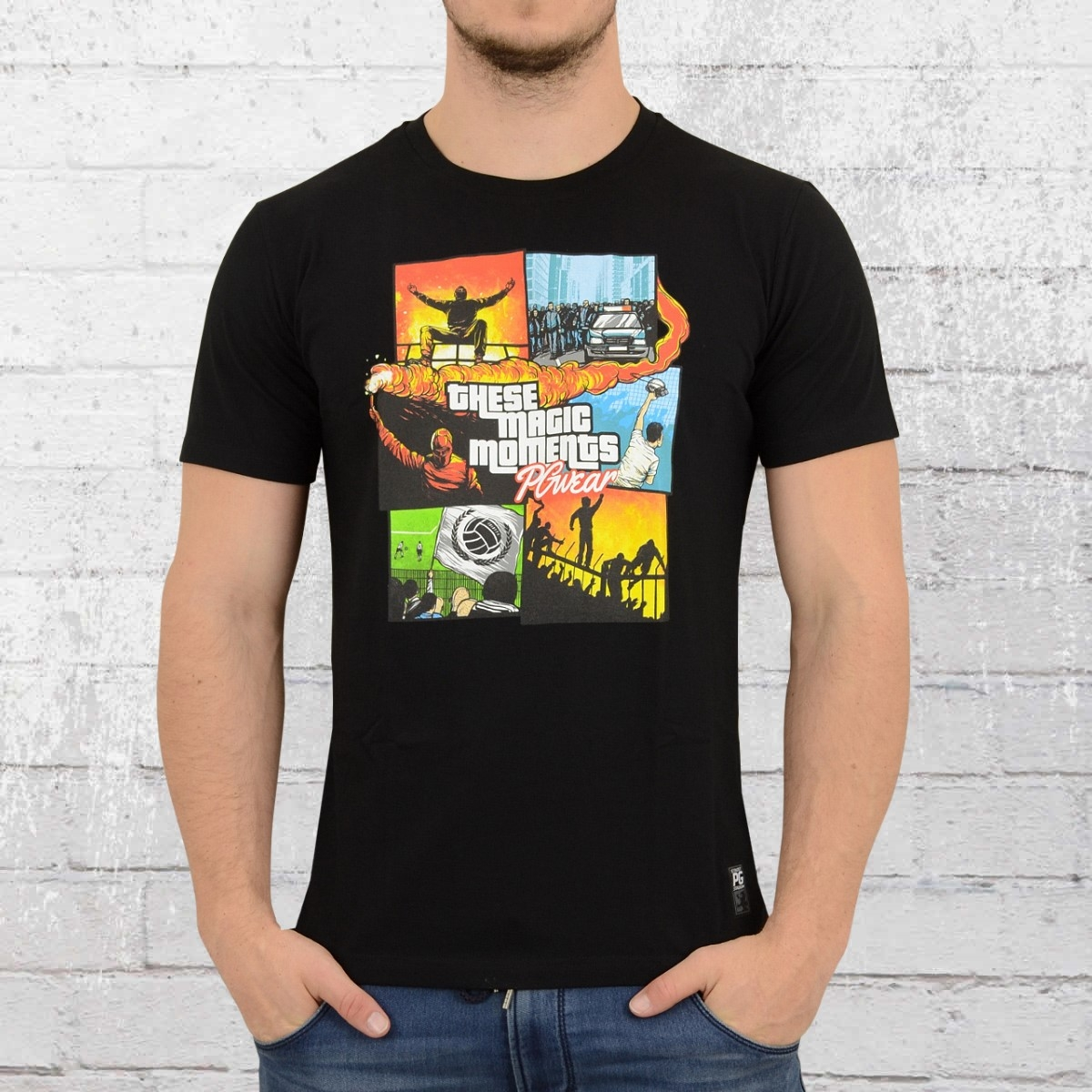 PG Wear Männer T-Shirt Magic Moments schwarz