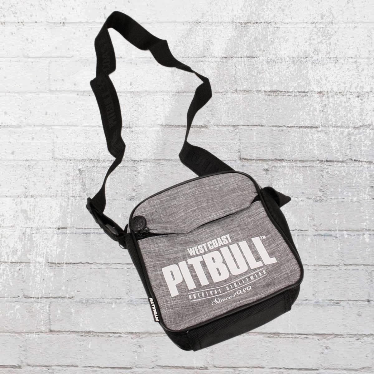 Pit Bull West Coast Schultertasche Since 1989 grau schwarz