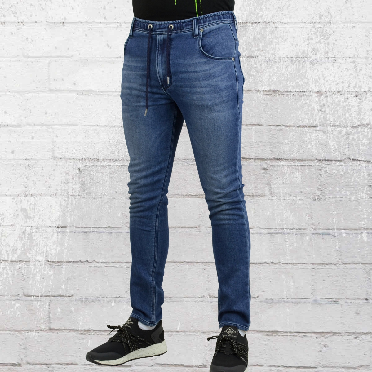 jetzt bestellen reell herren skinny hose jogger jeans vintage blau krasse. Black Bedroom Furniture Sets. Home Design Ideas