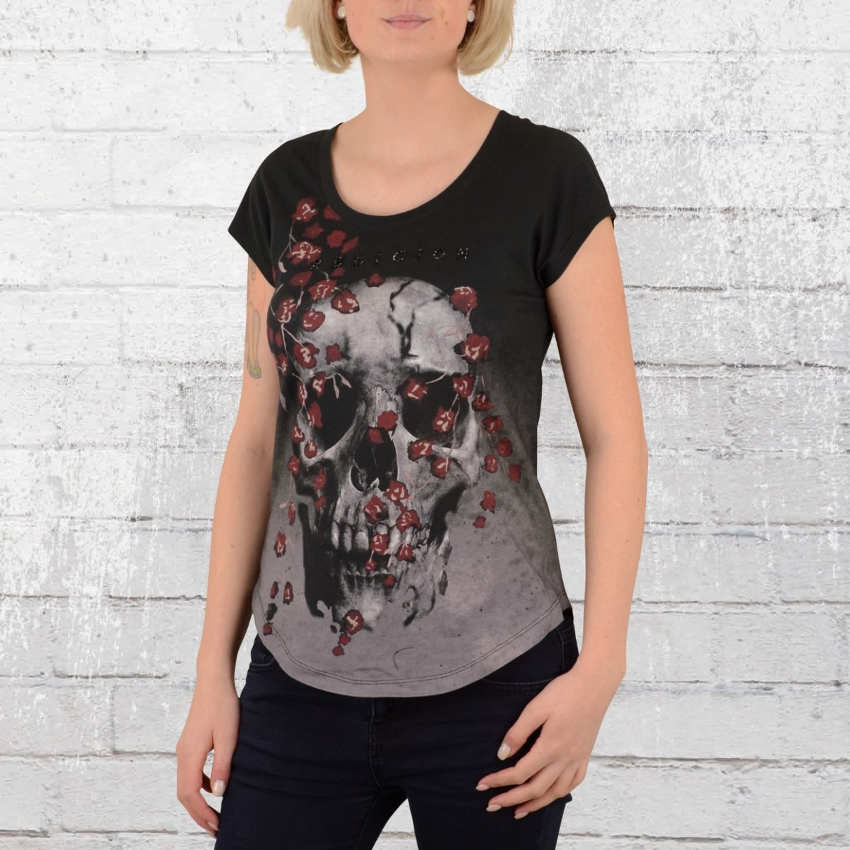 Religion Clothing Damen T-Shirt Dark grau schwarz