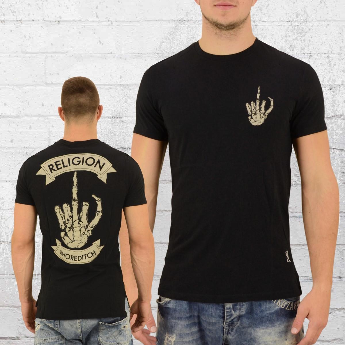 Religion Clothing Herren T-Shirt Finger schwarz