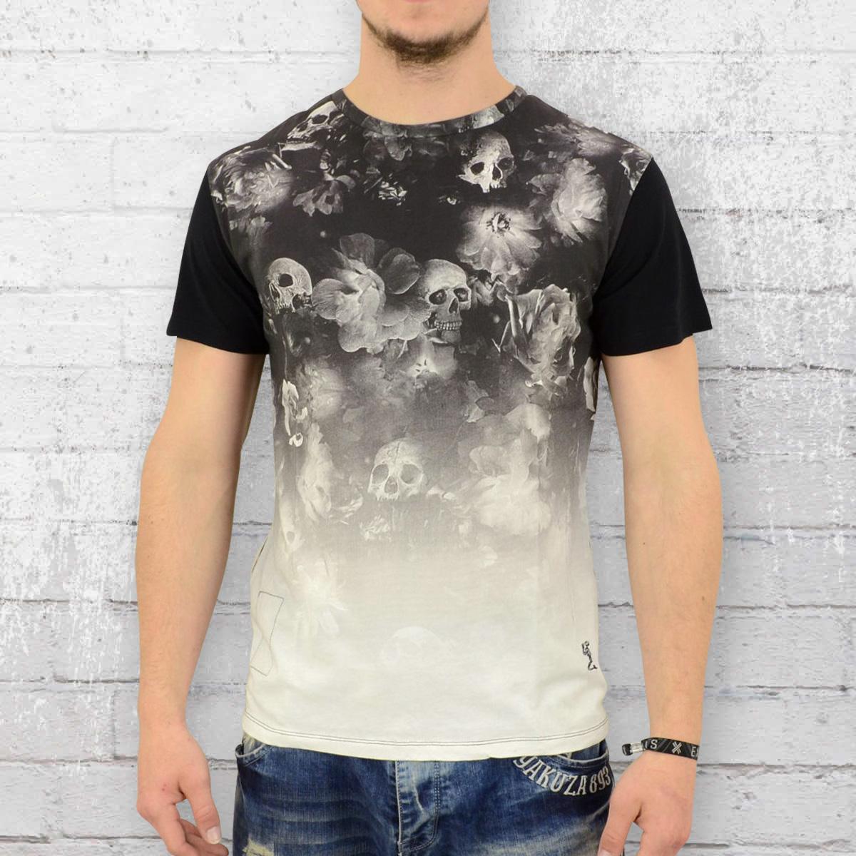 Religion Männer T-Shirt Blooming schwarz weiss
