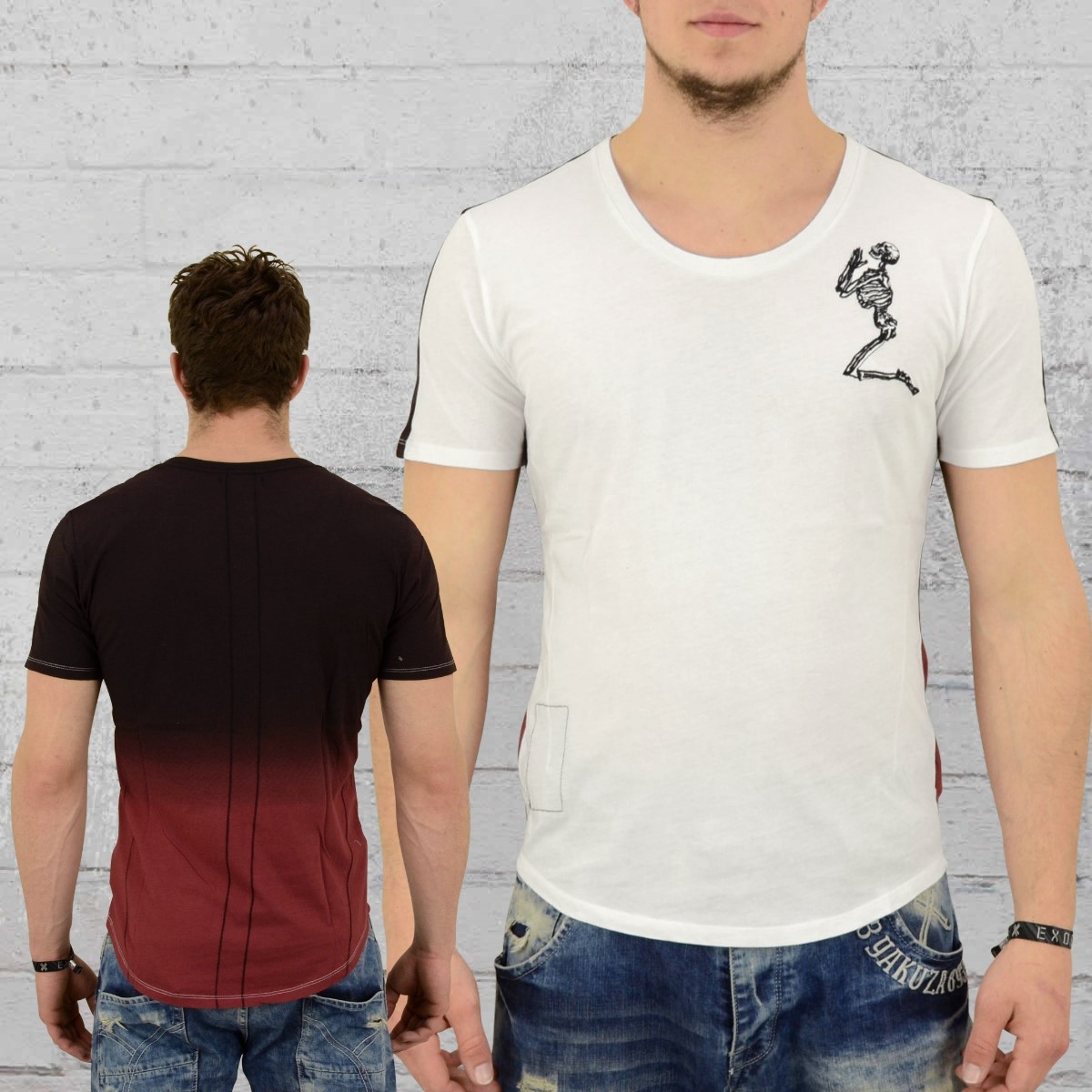 Religion Männer T-Shirt Gradient weiss schwarz rot