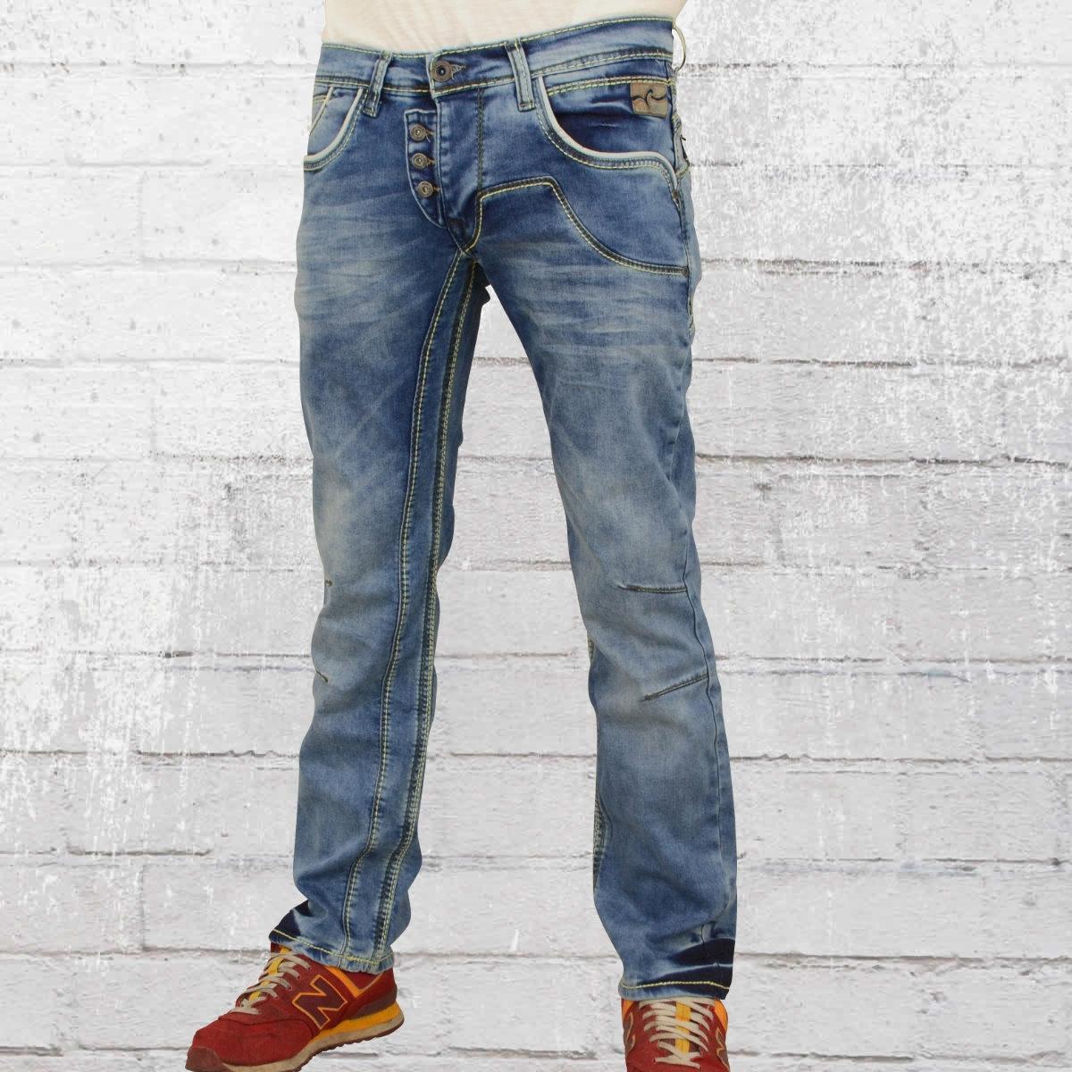 Rusty Neal Herren Jeans Hose Ruben blau