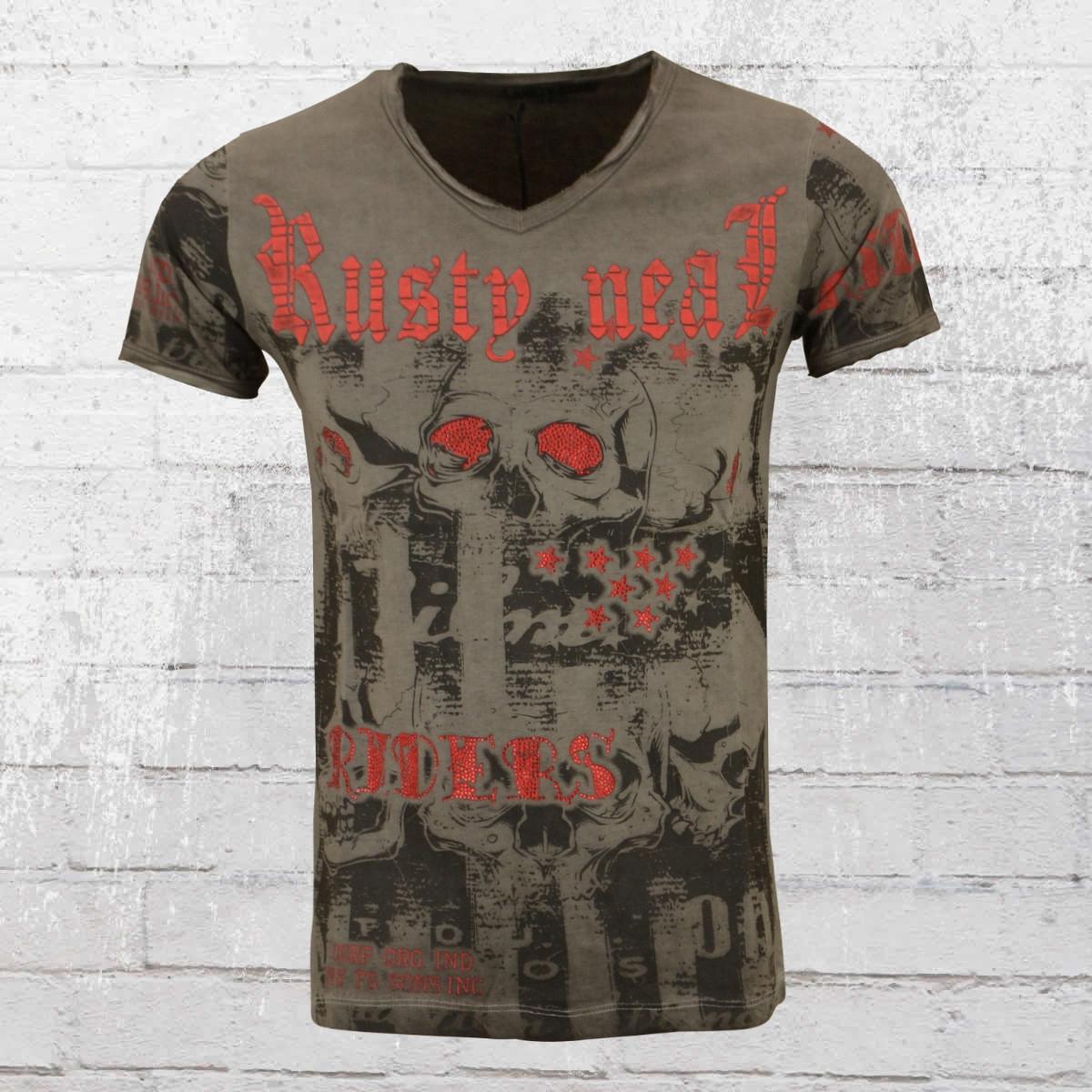 Rusty Neal Männer T-Shirt Riders vintage grau