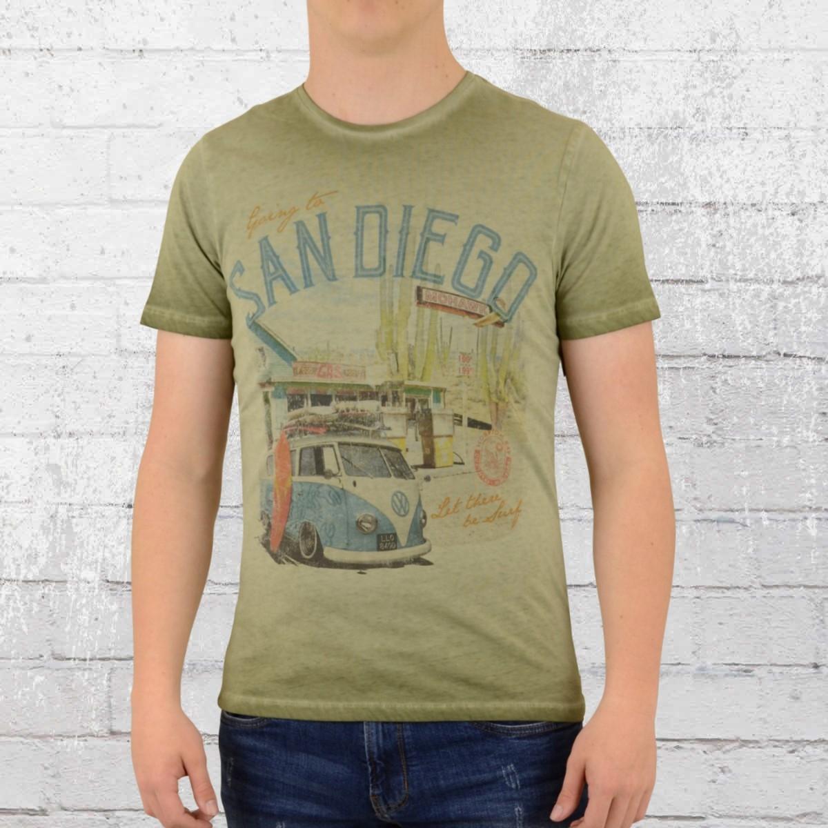 Scorpion Bay Herren T-Shirt San Diego vintage oliv