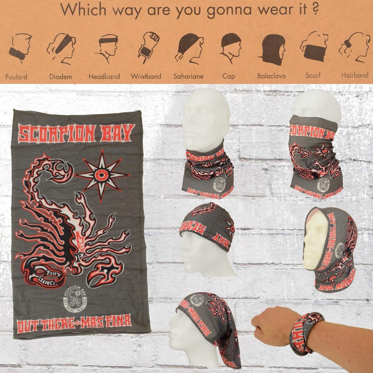 Scorpion Bay Schlauch-Schal Neck Warmer Tube grau
