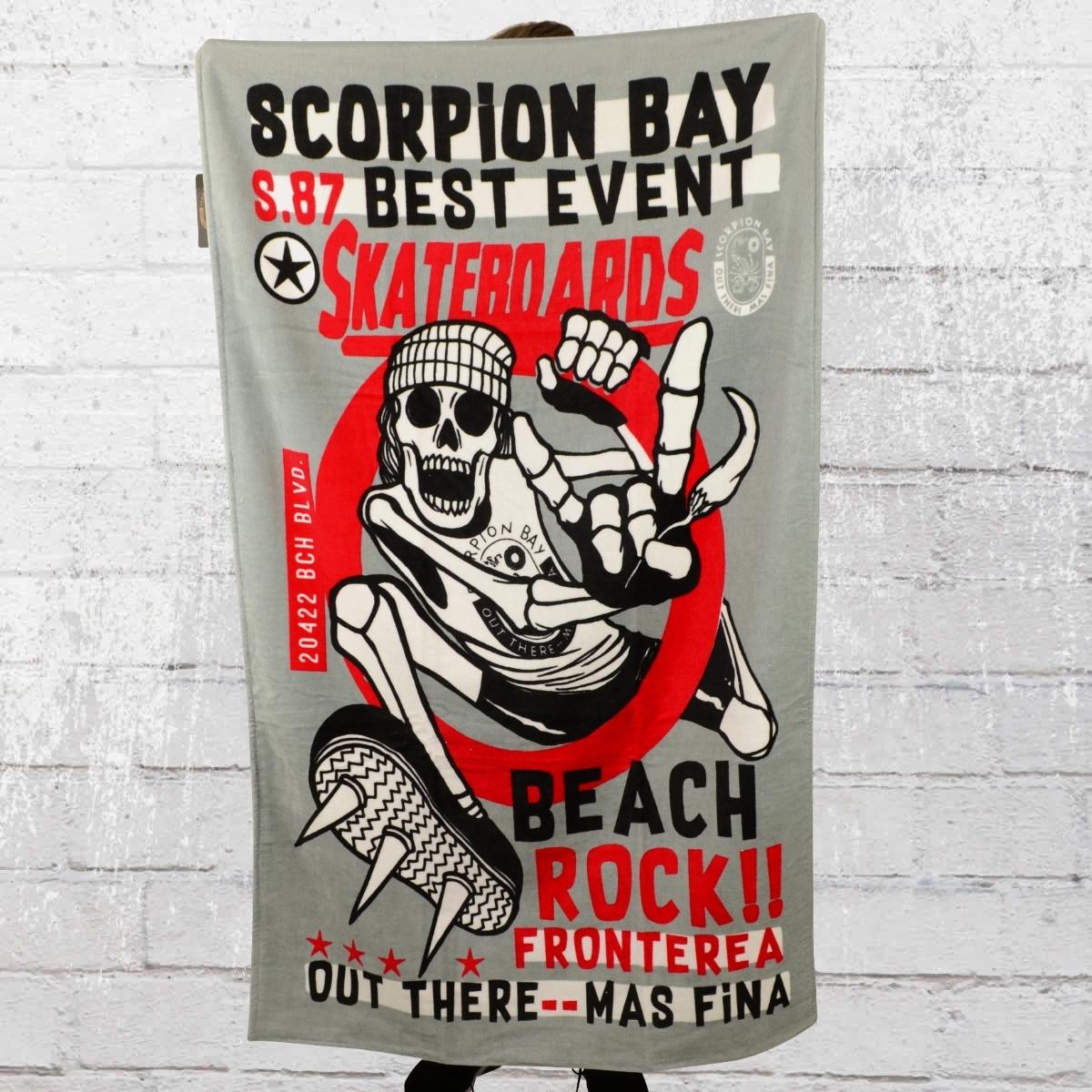 Scorpion Bay Strand Handtuch Beach Rock grau