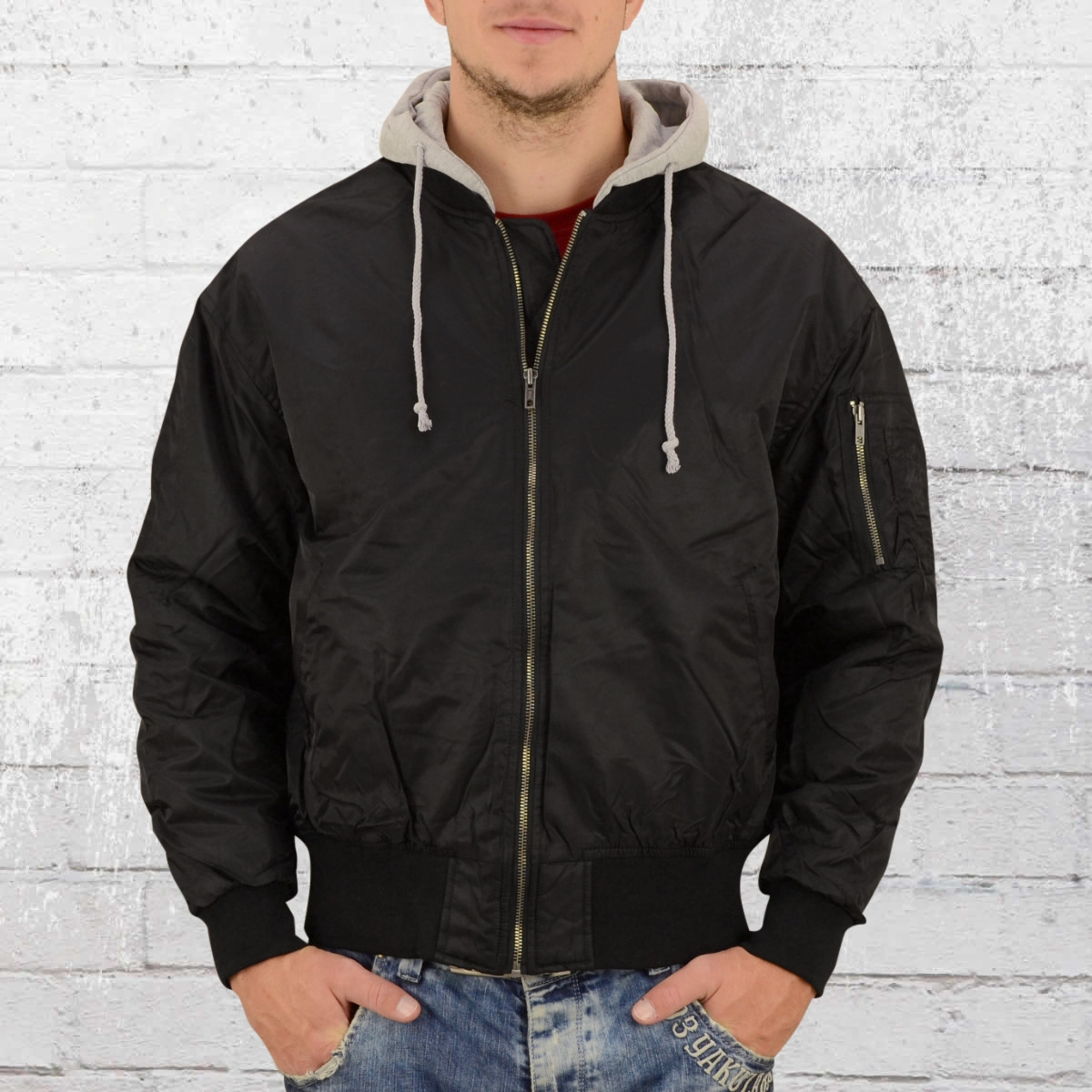 7d4af314e27c75 Order now | Urban Classics Hooded Oversized Bomber Jacket black