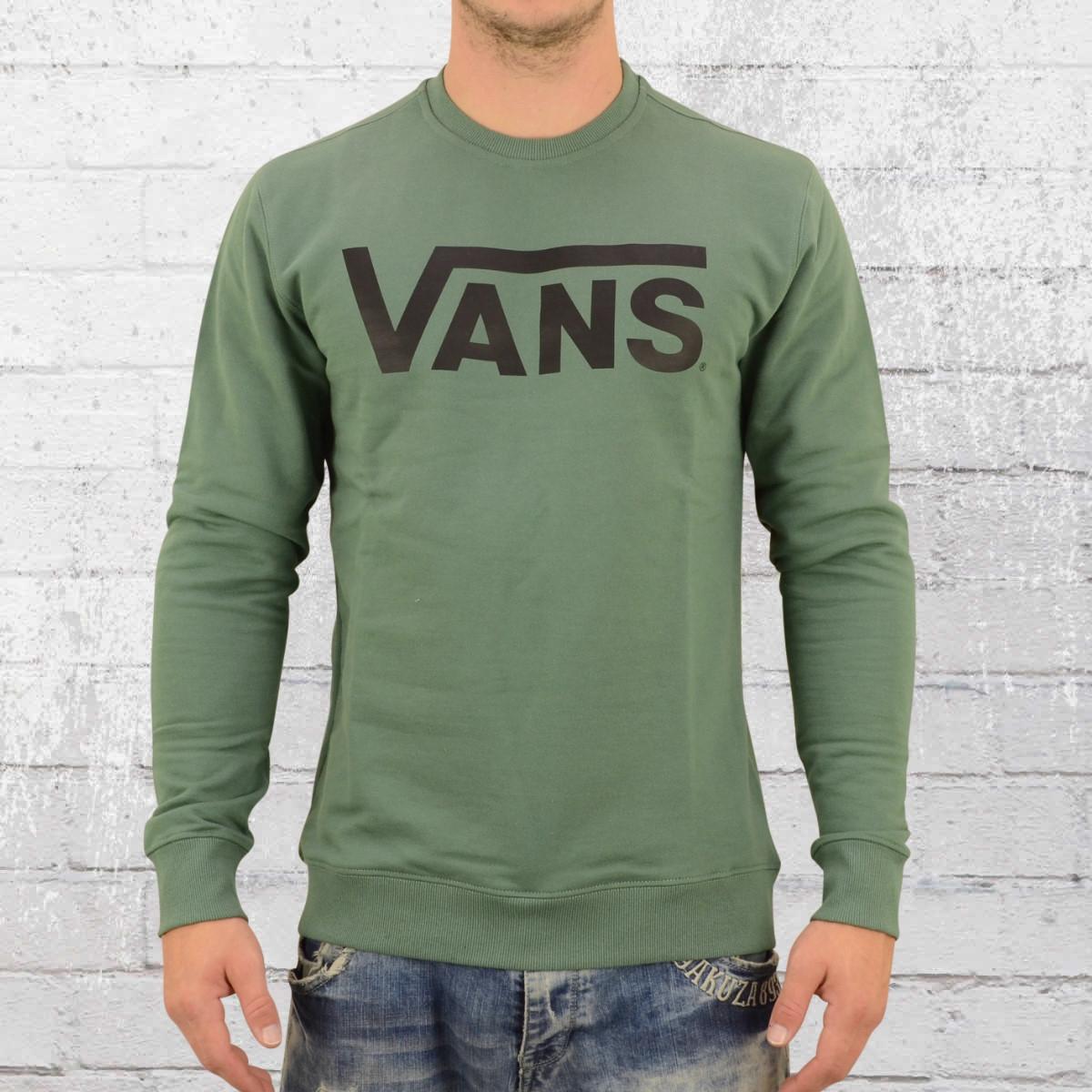 Vans Herren Sweater Classic Crew grün