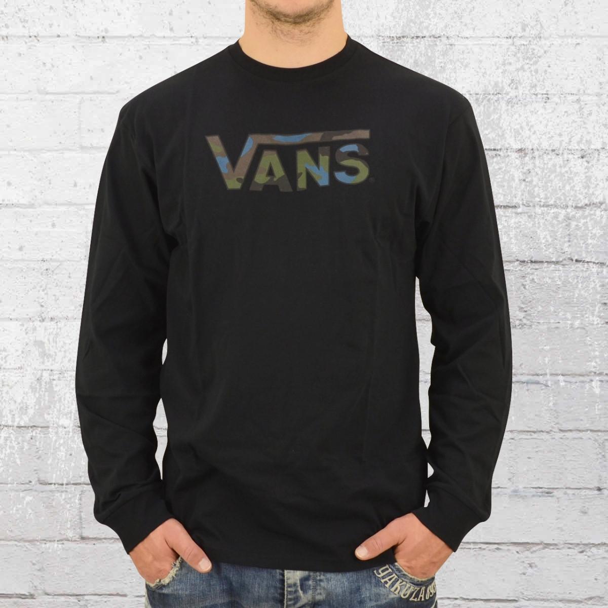 Vans Männer Langarm T-Shirt Classic Logo Fills Longsleeve schwarz