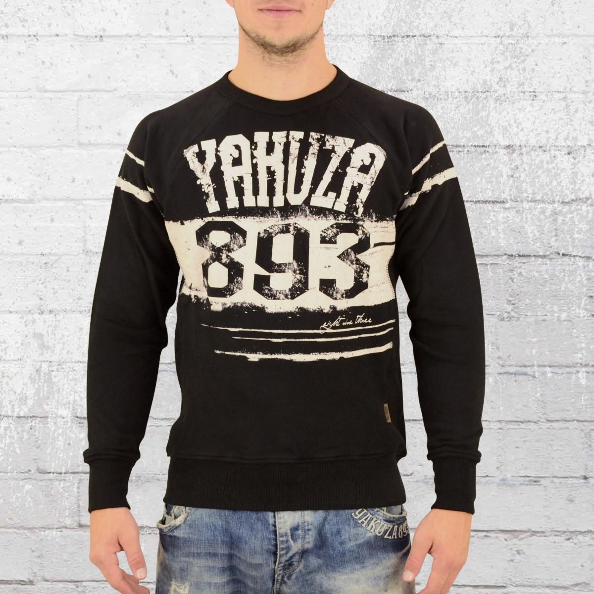 jetzt bestellen yakuza m nner sweater yent 10029 schwarz. Black Bedroom Furniture Sets. Home Design Ideas