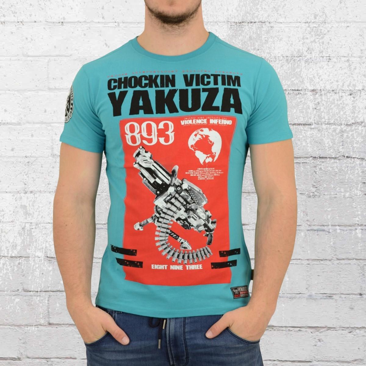 Yakuza Männer T-Shirt Chocking Victim blau
