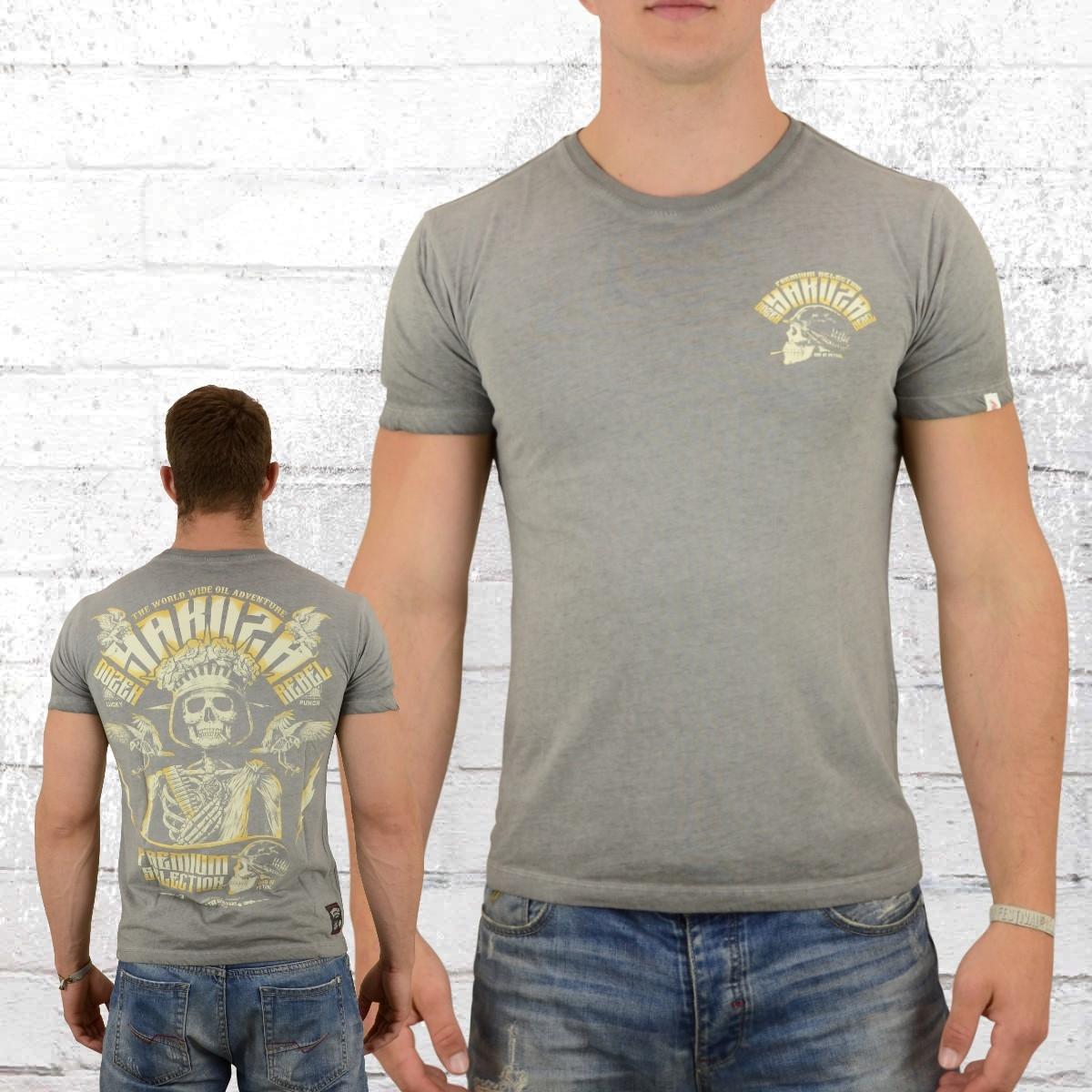 finest selection 61fd2 a3ba7 Order now | Yakuza Premium Male T-Shirt Skull King vintage grey