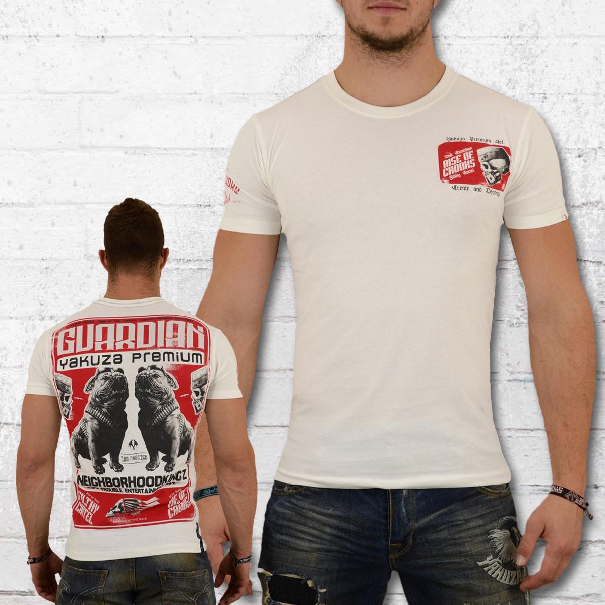 Yakuza Premium Herren T-Shirt Trouble Entertainment weiss