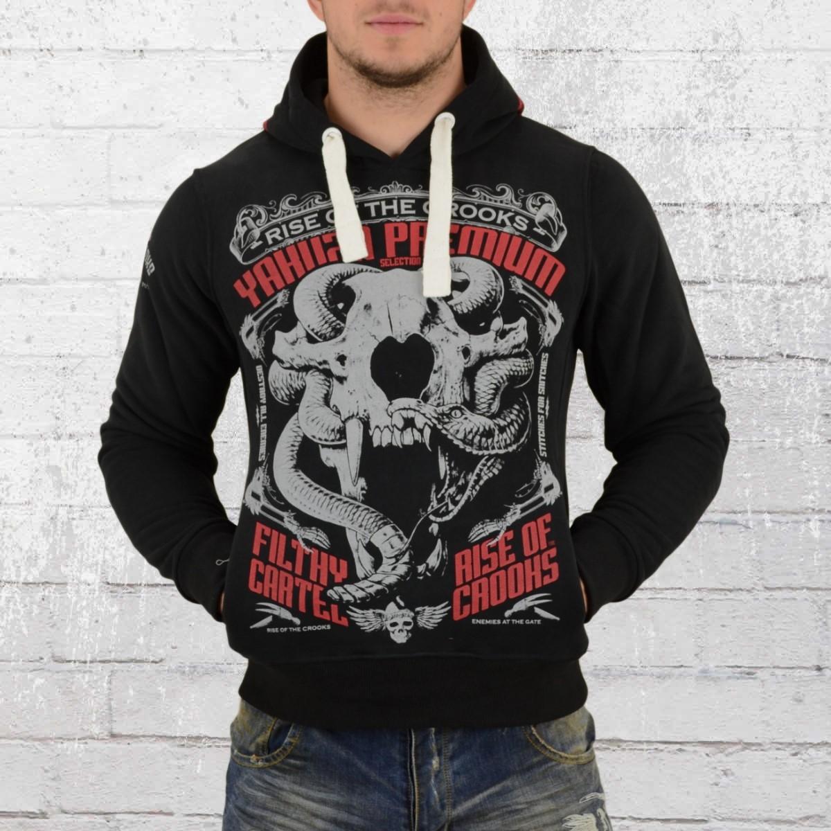 Yakuza Premium Hoody Animal Skull Kapuzensweater schwarz