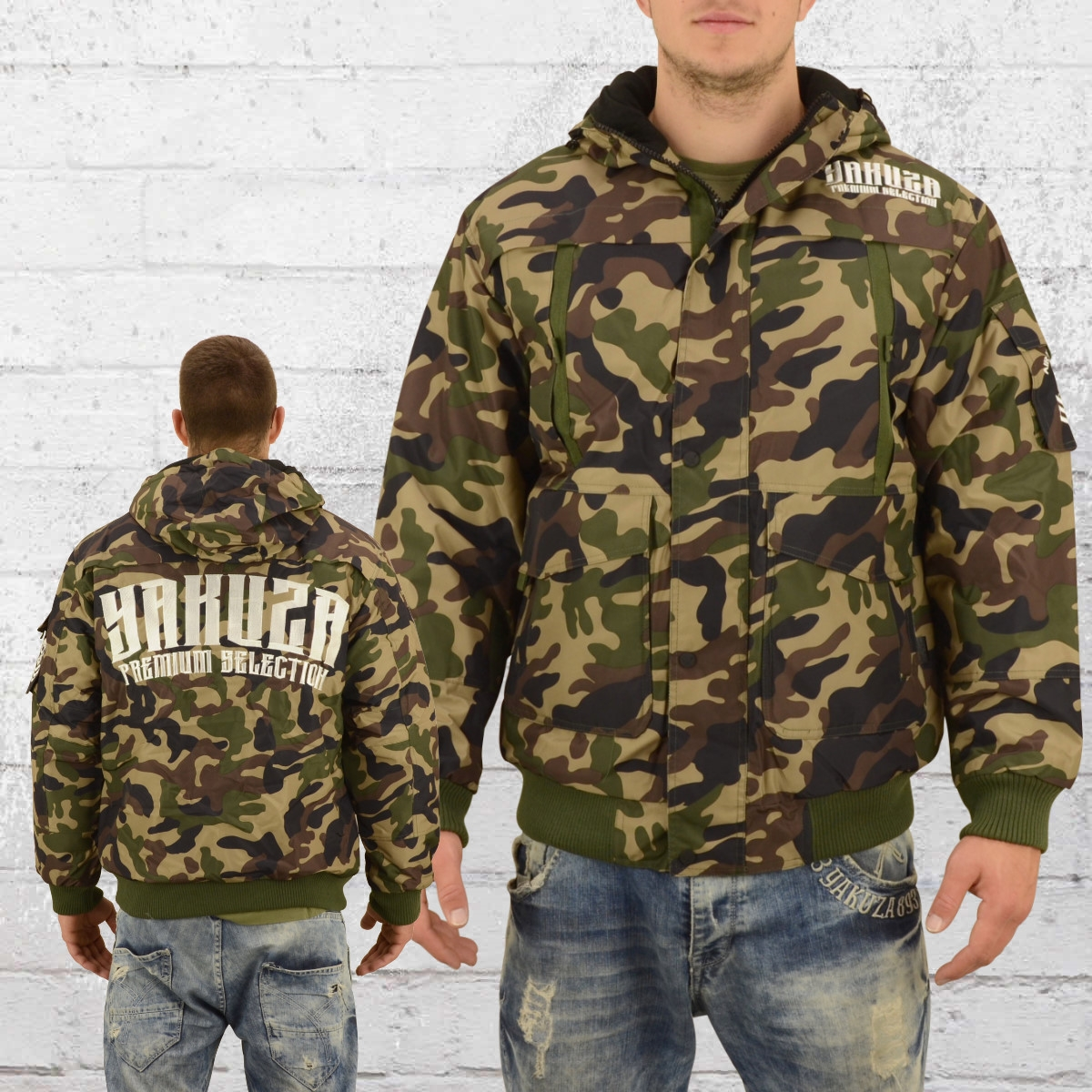 Yakuza Premium Männer Winter Jacke 2360 camouflage