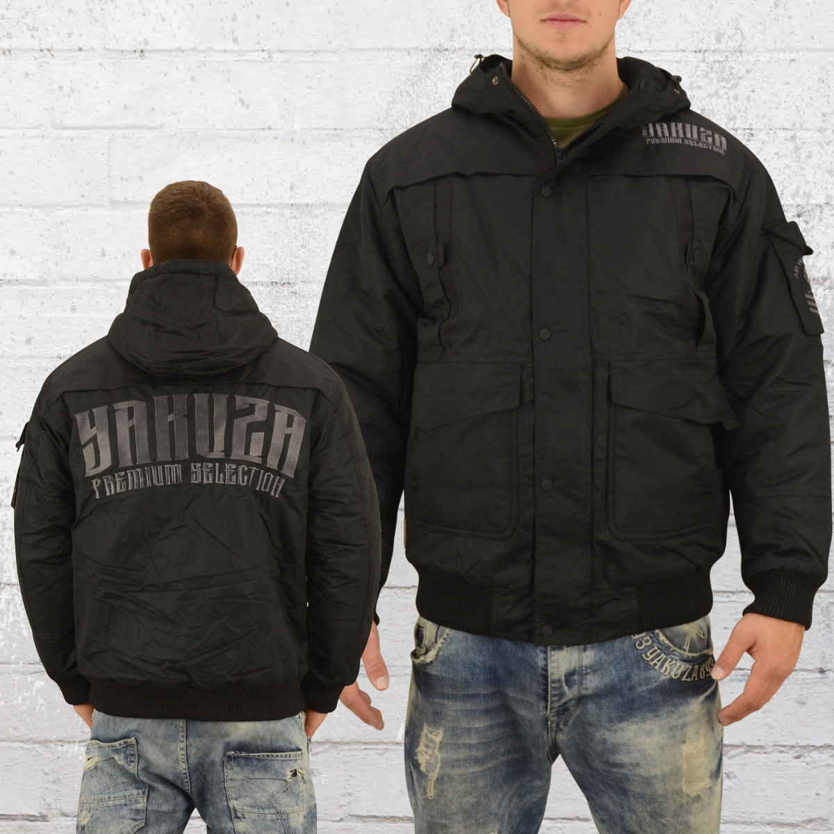 Yakuza Premium Winterjacke Herren 2360 schwarz