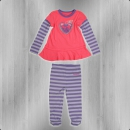 Converse Baby Kinder Dress and Leggings Set hollyhock