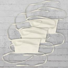 3 Stück Allbag Stoff-Maske mit Vliess Einlage weiss