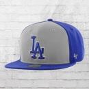 47 Brand Kappe LA Dodgers MLB Snapback Cap blau grau