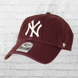 47 Brands Baseball League Clean Up Cap NY Yankees weinrot