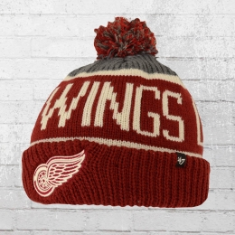 47 Brands Bommel Mütze Detroit Red Wings Beanie weinrot
