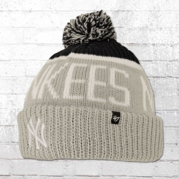 47 Brands Bommel Mütze New York Yankees Beanie grau
