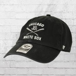 47 Brands Team Cap Chicago White Sox Clean Up Kappe schwarz