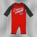Converse Strampler Baby Body Suit firebrick
