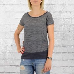 Alife and Kickin Coco Damen T-Shirt blau gestreift