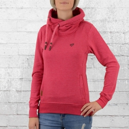 Alife and Kickin Damen Kapuzensweater Sarah Dot fuchsia