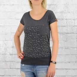 Alife and Kickin Frauen T-Shirt Cora A blau melange
