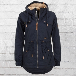 Alife and Kickin Frauen Winter Jacke Daryl marine blau