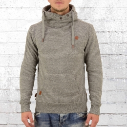 Alife and Kickin Herren Kapuzen-Sweater Johnson grau melange