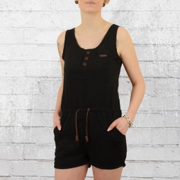 Alife and Kickin Damen Jumpsuit Josy Short schwarz