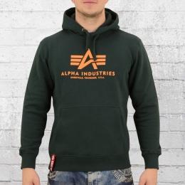 Alpha Industries Basic Hoody Herren Kapuzensweater dunkel grün