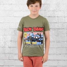 Alpha Industries Buck Danny Kinder T-Shirt Comic Air Base T oliv