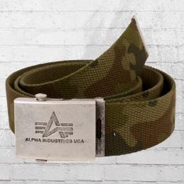 Alpha Industries Heavy Duty Herren Gürtel camouflage
