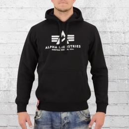 Alpha Industries Herren Basic Hoody Kapuzensweater schwarz