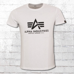 Alpha Industries Herren T-Shirt Basic T weiss