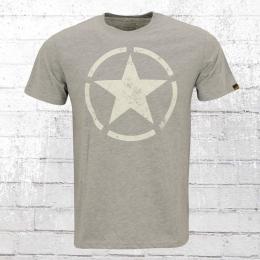 Alpha Industries Herren T-Shirt Star T grau melange