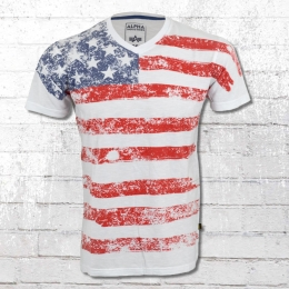 Alpha Industries T-Shirt Herren US T weiss