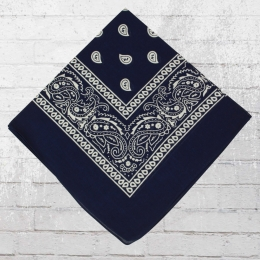 Bandana Paisley Tuch Nickituch blau