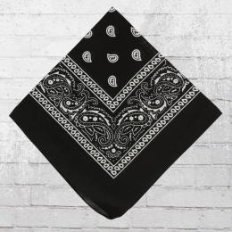 Bandana Paisley Tuch Nickituch schwarz Dreieckstuch