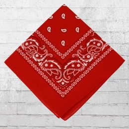 Bandana Tuch Mit Paisley Muster rot weiss