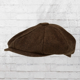 Beechfield Ballon-Mütze Heritage Bakerboy Cap braun