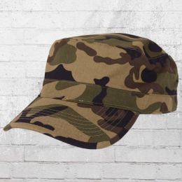 Beechfield Military Curved Army Cap Top Gun woodland camo